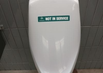 Apply Not In Service Label