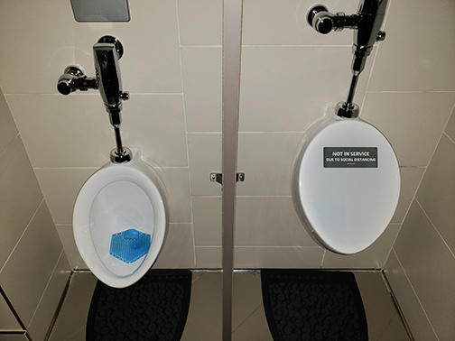 Out of Order Urinal Covers Reception Halls